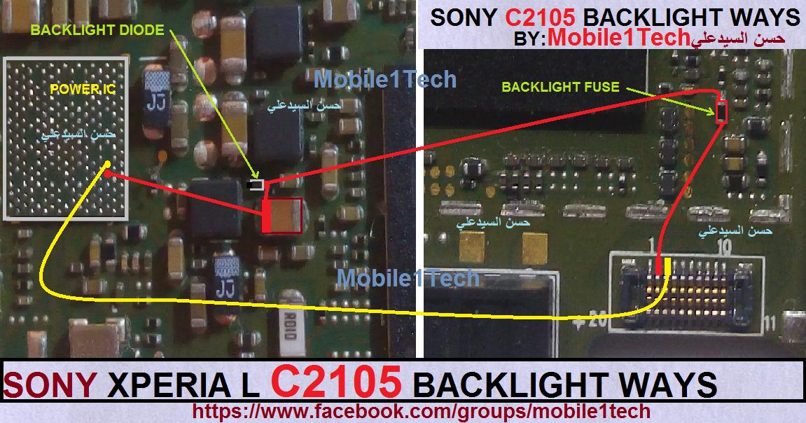 Sony Xperia L   C2105   Backlight Ways