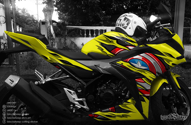 honda cbr150r captain america cutting sticker