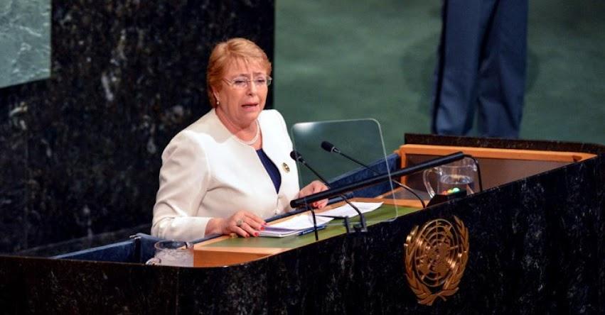 Expresidenta de Chile, Michelle Bachelet, es nombrada jefa de DD.HH. de la Organización de Naciones Unidas - ONU