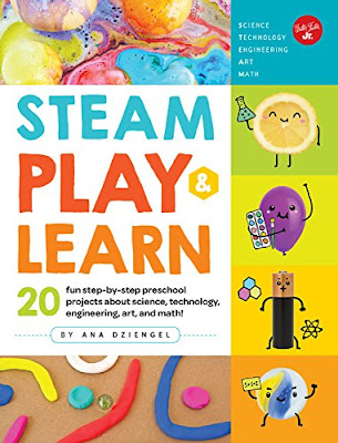 STEAM Play & Learn is filled with engaging projects perfect for preschool and early-school aged children. #SteamPlayLearn #STEAM #Nonfiction #ChildrensLit #NetGalley