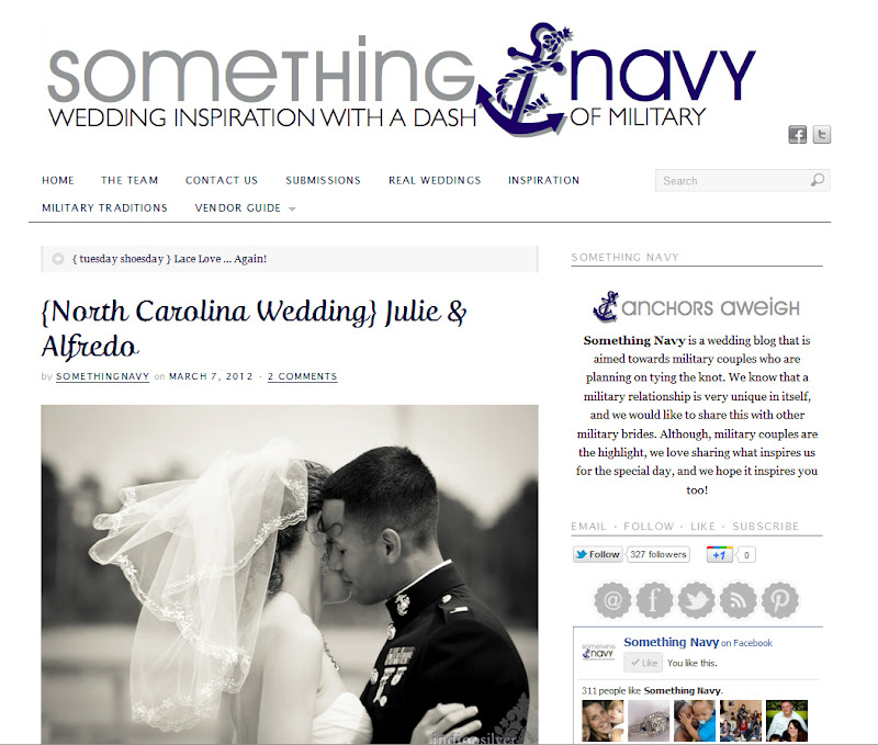 Check us out on Something Navy Weddings Blog!