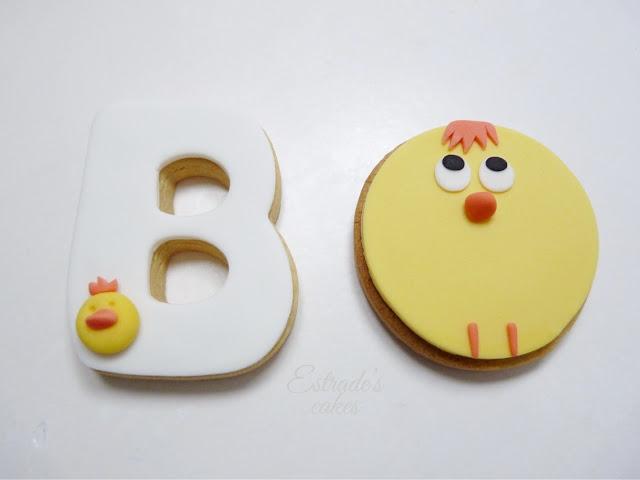 galletas con fondant de pollito - 1