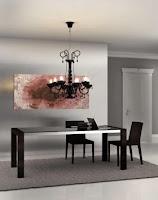 Raphne Living: tavolo con base in vetro e sedie in cuoio