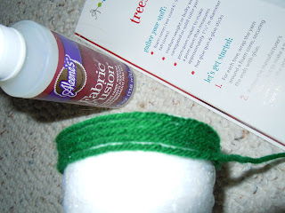 Christmas tree crafts made from yarn