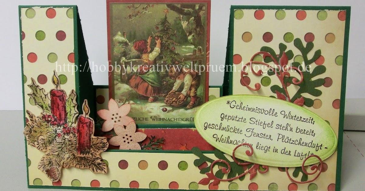 hobby kreativ welt weihnachtliche treppenkarte. Black Bedroom Furniture Sets. Home Design Ideas