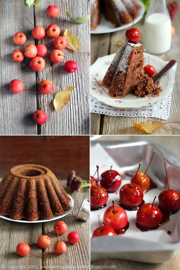 puszysta babka czekoladowa z jabłuszkami rajskimi