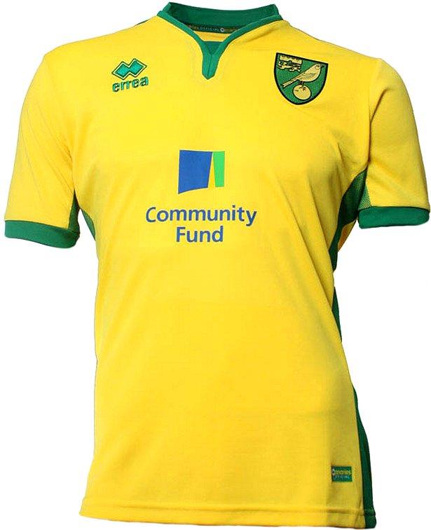Errea apresenta novas camisas do Norwich City - Show de Camisas a7111fb41b590