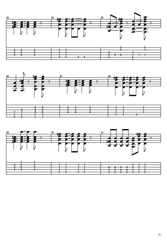 Californication Tabs Red Hot Chili Peppers (Acoustic Version) Easy Chords