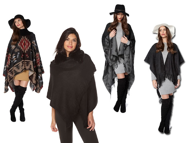 blanket wraps, oversize scarves, ponchos and capes