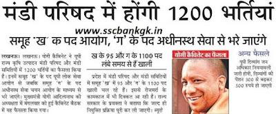 UP Mandi Parishad Recruitment 2018 1200 Group C, D Bharti