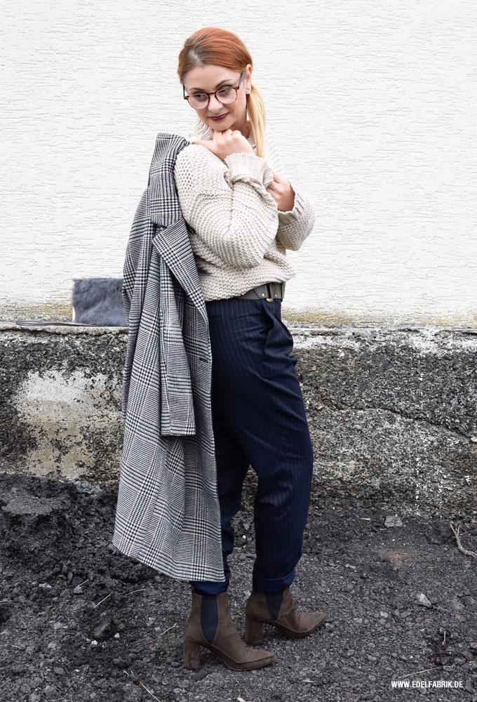 karierter Damenmantel von H&M. Karo Mantel von H&M