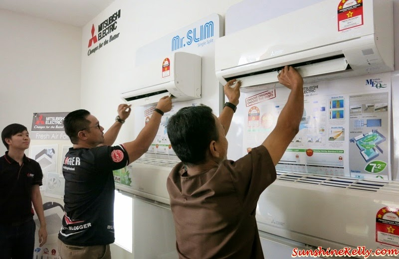 Mitsubishi Electric, Eco Changes, For A Greener Tomorrow, how to change air conditioner filter