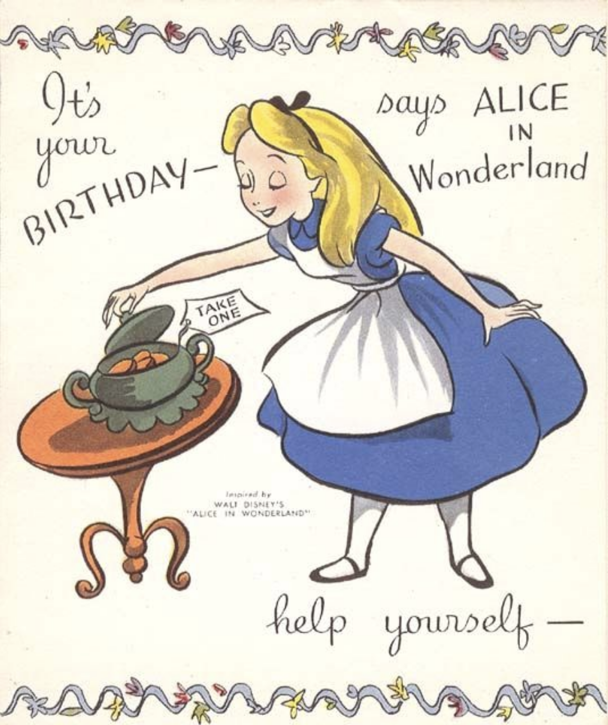 Decidedly Disney Alice Birthday Wishes Png 1222x1456 Disneyland