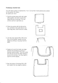 full instructions for sewing tutorial for vintage fabric foldaway market tote
