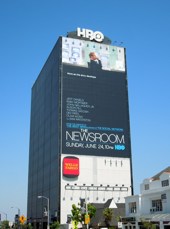Newsroom giant HBO billboard