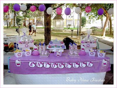 fiesta hello kitty morada niña