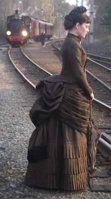 Bustle skirts and dresses are popular in steampunk fashion, based on the victorian bustle skirts