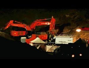 España) Los trabajos continúan en el pozo tras la cuarta voladura ...