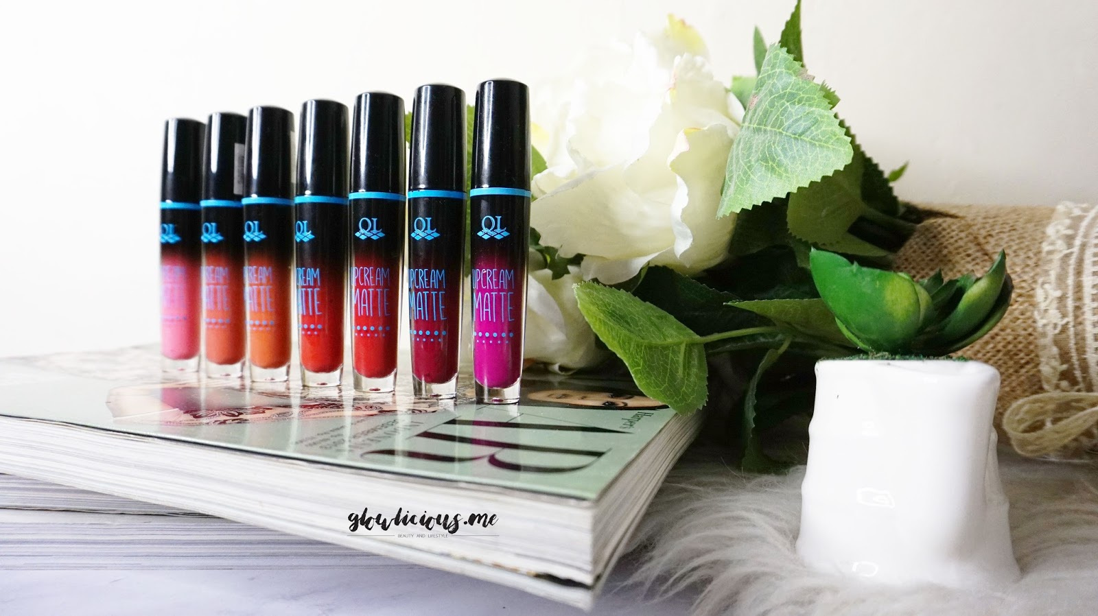 8 Warna QL Cosmetic Matte Lip Cream