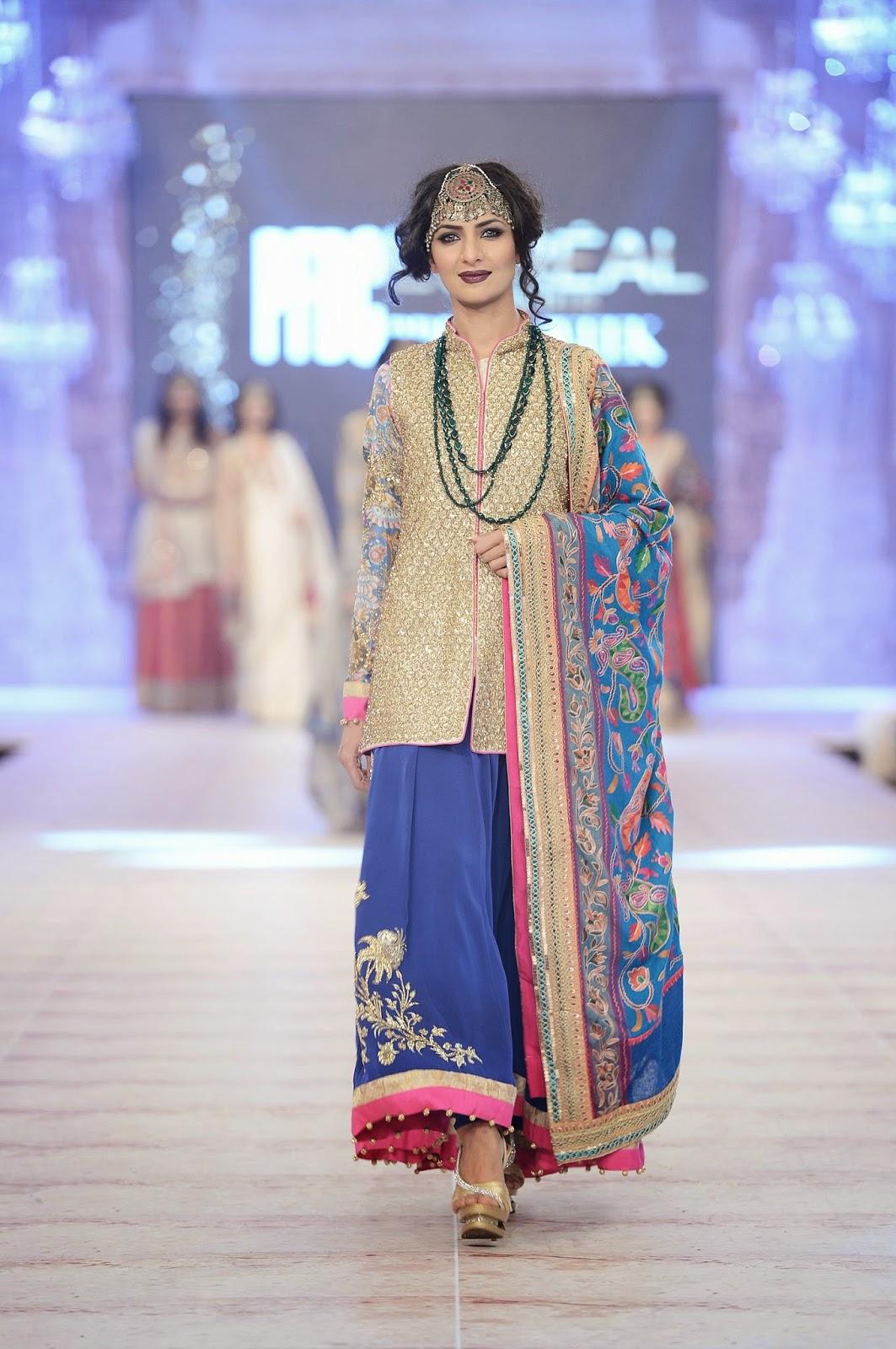gold blue bridal ensemble