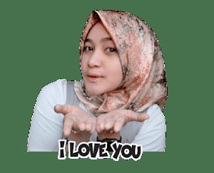 Sticker WhatsApp Hijaber Noor Anisa