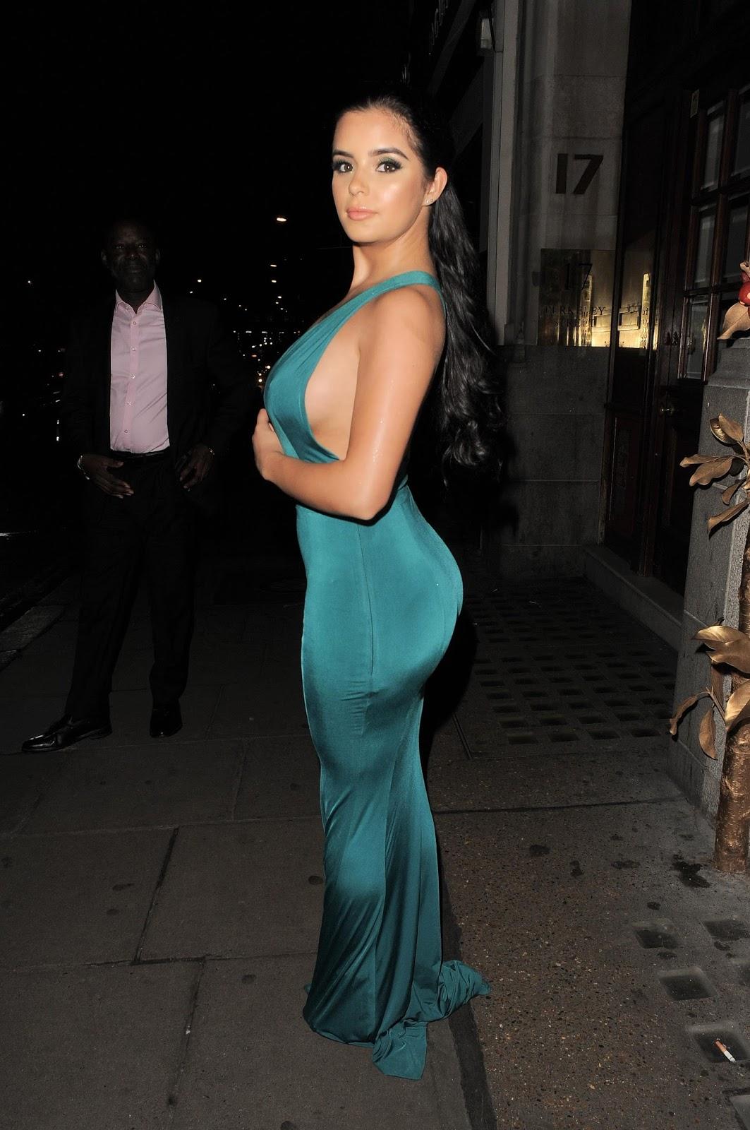 Demi Rose in Tights Dress
