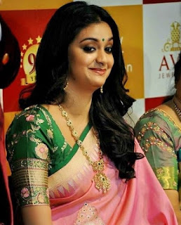 Keerthy Suresh in Pink Saree with Cute and Awesome Lovely Chubby Cheeks Smile 4
