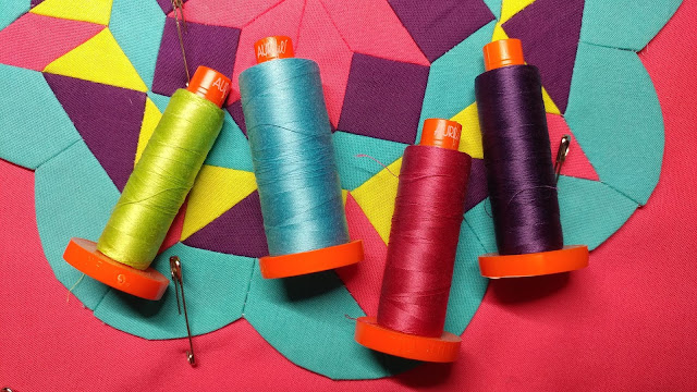 Aurifil thread for quilting and English paper piecing