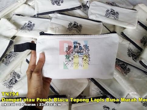 Dompet atau Pouch Blacu Tepong Lapis Busa Murah Meriah