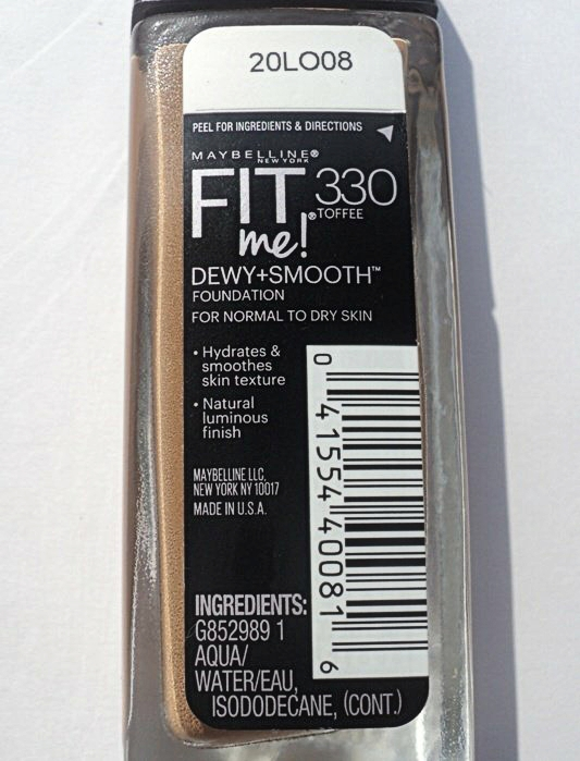Maybelline Fit Me Dewy + Smooth Foundation Review