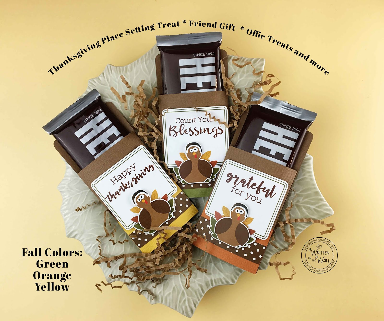 Thanksgiving Candy Card/Candy Bar Wrapper