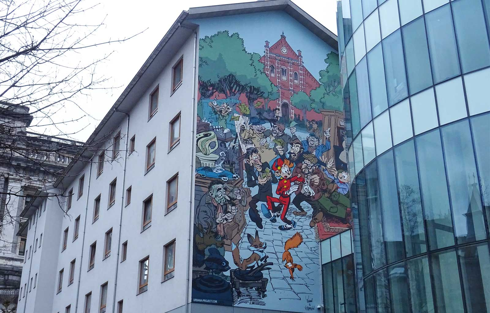 week-end à Bruxelles fresque spirou
