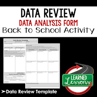 Data Review, RTI Print and Google Form Teacher PD Series, Open House, Teacher Planning, Professional Development