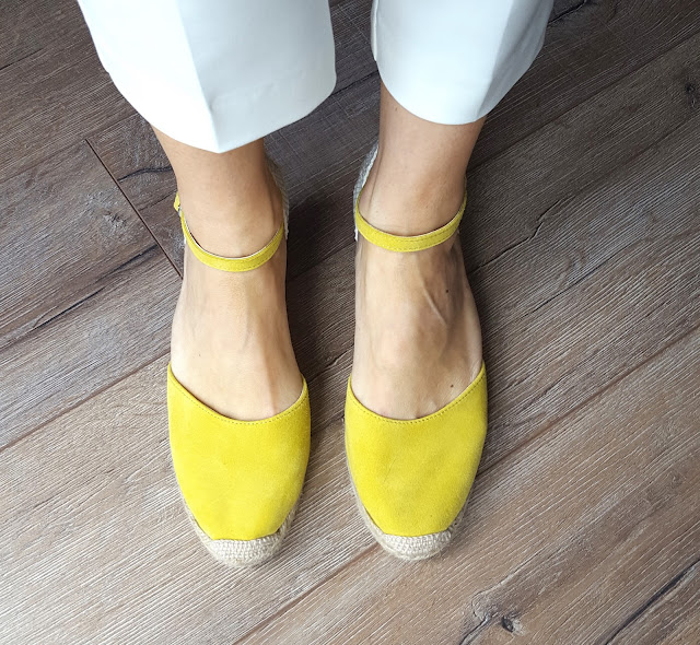 Yellow espadrilles