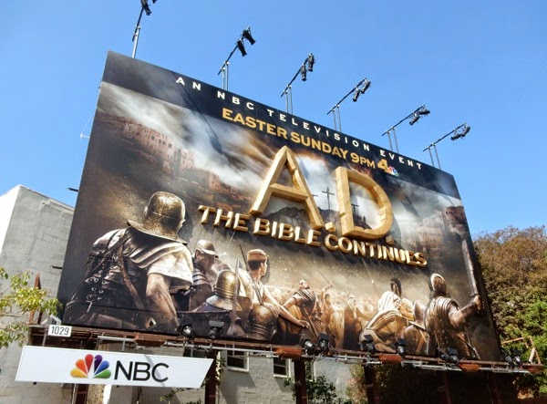 AD The Bible Continues special billboard installation