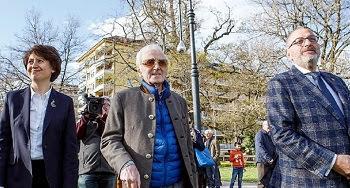 Aznavour inaugura en Ginebra monumento a las víctimas del genocidio armenio