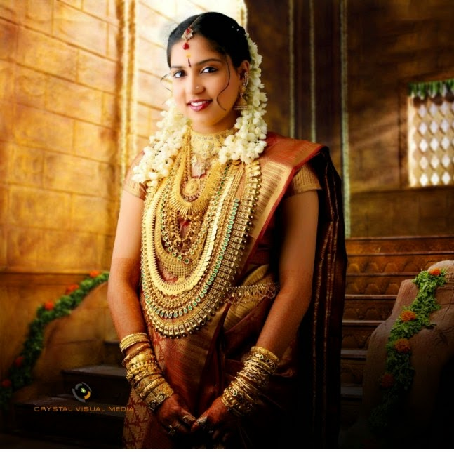 Wedding Hairstyle For Kerala Bride: LATEST INDIAN WEDDING SILK SAREE,JEWELLERY,WEDDING HAIR