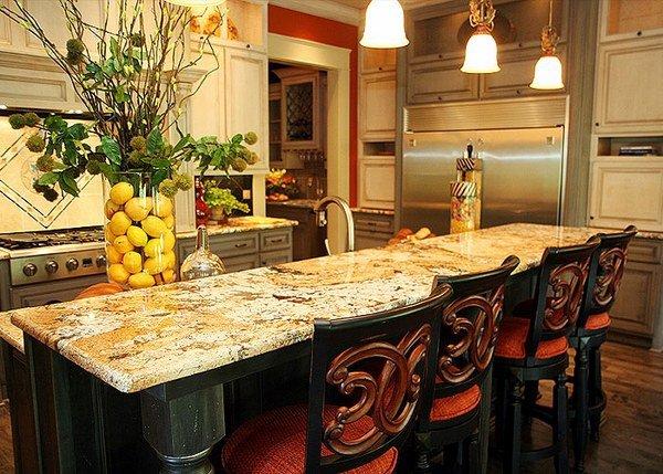 Arandis Gold Granite Kitchen Countertop Ideas