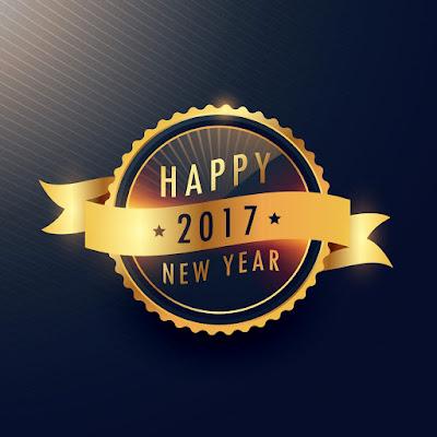 Happy New Year 2017 HD Wallpaper 1024x768