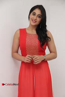 Actress Model Regina Candra Latest Pos in Beautiful Red Dress  0012.jpg