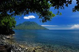 Sulamadaha Beach in Ternate Maluku Indonesia