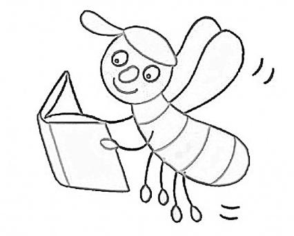pin jolanda nio op bijen leren lezen kleurplaten lezen