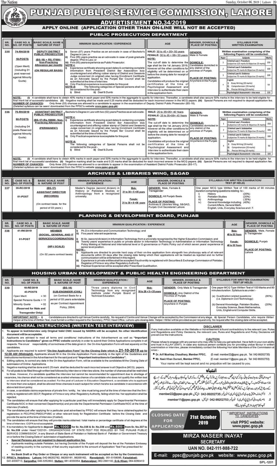 Punjab Educators Jobs 2019 October Latest