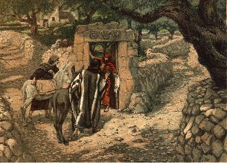 The Donkey at Bethphage - James Tissot