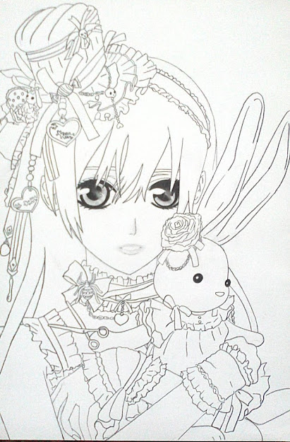 Anime Vampire Girl Coloring Pages Anime Vampire Girl Coloring
