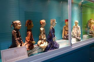 Beberapa karakter wayan yang di simpan dalam museum