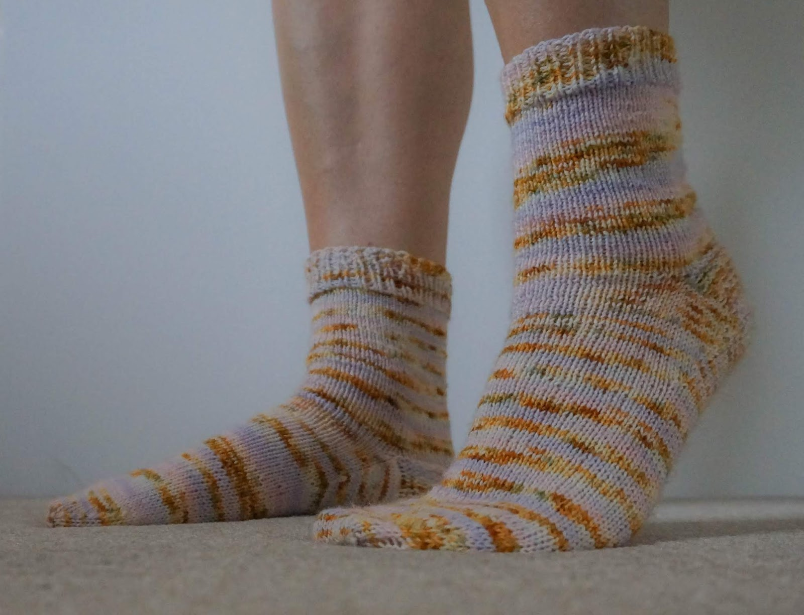 Cuff down socks for a beginner knitter