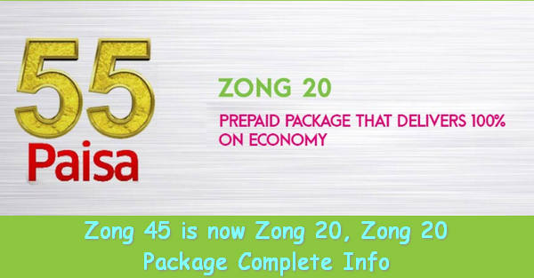 Zong 20 Package complete Info