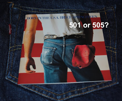 Is Bruce's wearing Levi's 501 or 505 on Born in the USA?