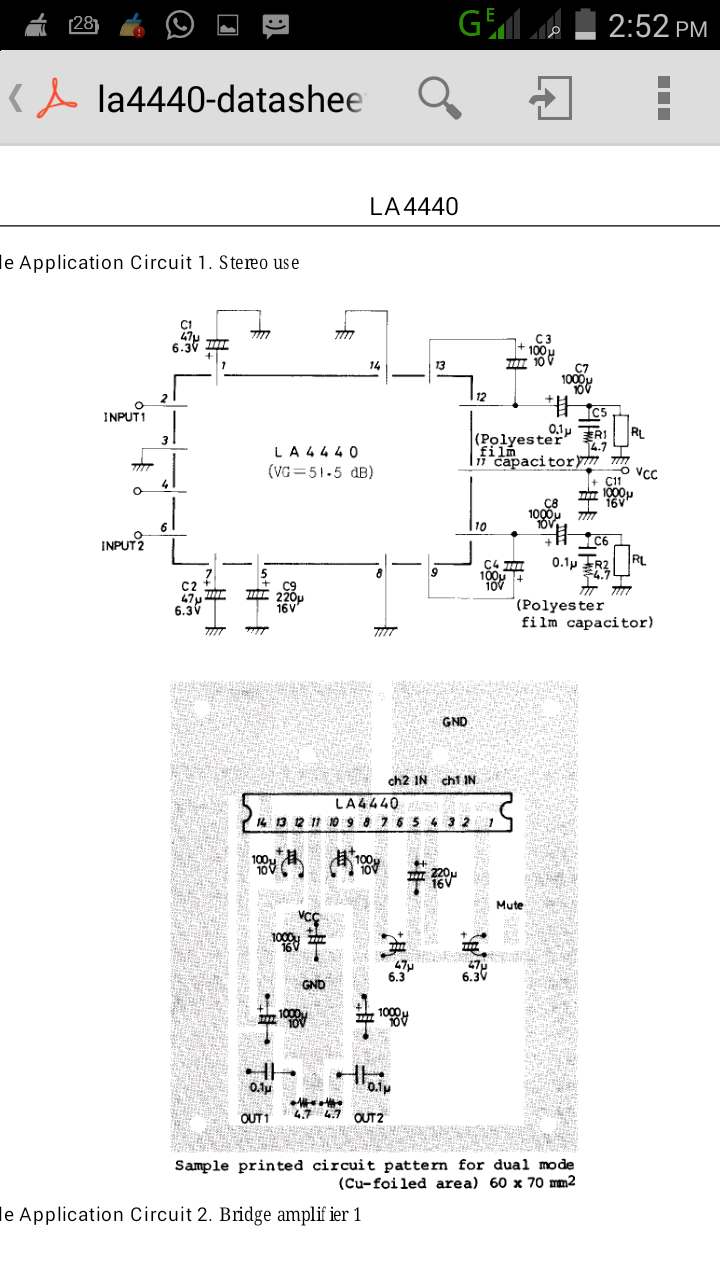 La4440 Stereo Amplifier Circuit Schematic